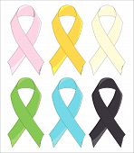 Six Awareness Ribbons