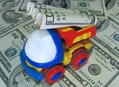 Toy Truck With Dollars poster