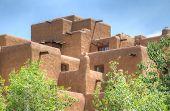 Traditional Adobe style building in Santa Fe