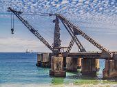 Ruined Shipping Crane