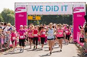 SOUTHAMPTON, UK - JULY 14 : Thousands of women gather for the annual Race for Live to raise money for Cancer Research. 14 July 2013 in Southampton, UK.