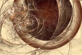 Abstract fractal background in beige brown coffee  colors