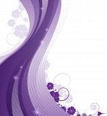 Sparkling Lilac Floral  Background