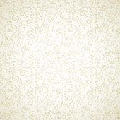 Damask seamless pattern on light beige background