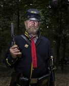GETTYSBURG, PENNSYLVANIA - JULY 7: Re-enactors at the 150th anniversary of the American Civil War (1