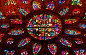 Gospel Writers Stained Glass Rose Window Cathedral Of Saint Mary Of The See Seville Spain
