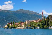 Panoramic view of Varenna town (Como lake, Italy)