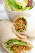Falafel Pita Bread Roll Wrap Sandwich