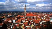 pic of hedwig  - Panorama of Landshut with big old Cathedral.