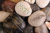 Hope and Dream Rocks.