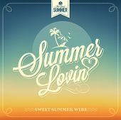 Summer Lovin Typography Background For Summer