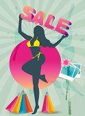 Shopping sale summer theme banner