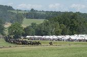 GETTYSBURG, PENNSYLVANIA - JULY 7: Reenactors at the 150th anniversary of the American Civil War on