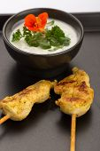 Chicken Skewers And Bowl