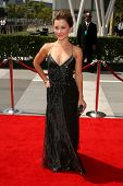 Olesya Rulin  At the 60th Primetime Creative Arts Emmy Awards Red Carpet. Nokia Live Theater, Los An