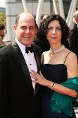 Matthew Weiner and Linda Weiner  At the 60th Primetime Creative Arts Emmy Awards Red Carpet. Nokia L