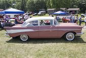 1957 Pink Chevy Bel Air Side View
