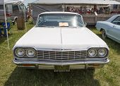1964 White Chevy Impala Ss Front View