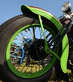 Motorcycle Wheel Closeup