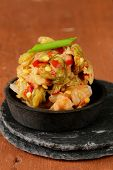 image of kimchi  - Korean traditional salad cabbage kimchi with hot pepper - JPG