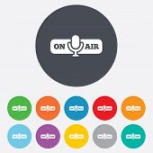 On air sign icon. Live stream symbol.
