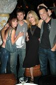 Amy Paffrath and Drew Seeley with Jennifer Leeser and Brandon Slavinski  at the Birthday Party for J