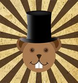 stock photo of groundhog day  - Illustration of Groundhog Day two dedicated in February - JPG