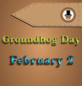 foto of groundhog day  - Illustration of Groundhog Day two dedicated in February - JPG