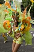 A dancer at the Notting Hill Carnival