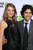 Angela Lindvall and Adrian Grenier  at the Planet Green Premiere and Concert. Greek Theater, Los Angeles, CA. 05-28-08