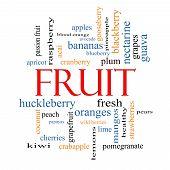 Fruit Word Cloud Concept