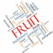 Fruit Word Cloud Concept Angled