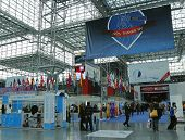 Registration area at the Greater NY Dental Meeting at Javits Center in New York