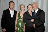 Charlie McDowell and Lilly McDowell with Malcolm McDowell and his wife Kelley  at the 35th Annual Vision Awards. Beverly Hilton Hotel, Beverly Hills, CA. 06-12-08