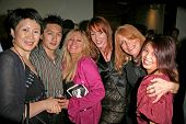 L-R Lisa Gao, Cendra Martel, Jenny McShane, Marilyn Vance and Serena Guam  at the party celebrating