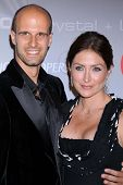 Edoardo Ponti and Sasha Alexander  at the 2008 Crystal And Lucy Awards Gala. Beverly Hilton Hotel, B