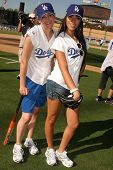 Morgan Webb and Yasmin Deliz  at The 50th Annual Hollywood Stars Game hosted by the Los Angeles Dodg