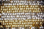 Golden And Silver Sequins Fabric