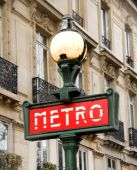 Parisian Metro Sign. Paris, France.