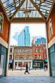 urban contrasts in Shoreditch district, London