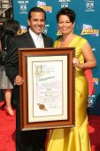 Antonio Villaraigosa and Deborah Lee  at the BET Awards '08. Shrine Auditorium, Los Angeles, CA. 06-