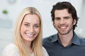 Smiling Attractive Young Couple