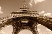 Eiffel Tower In Sepia