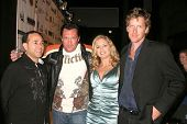 Michael Madsen with Heather Storm and Declan Joyce  at the world premiere screening of