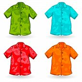 Hawaiian Aloha Shirts. Vector illustration