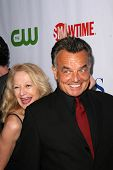 Ray Wise and wife Kass  at the CBS, CW and Showtime Press Tour Stars Party, Boulevard3, Hollywood, C