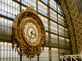 Orsay Museum. Closeup Of The Clock. Paris