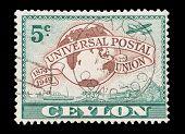 Ceylon Postage Stamp