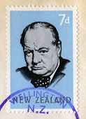 Winston Churchill Postage Stamp (new Zealand)