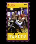 Sex Pistols Postage Stamp From Rwanda